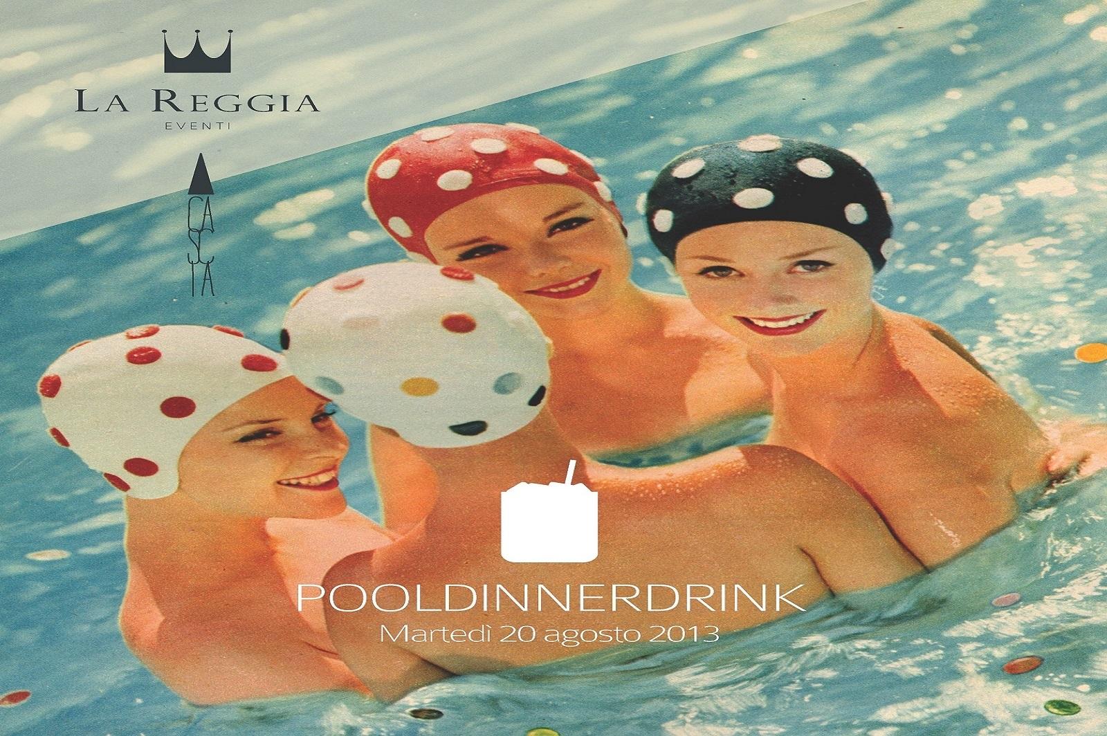 Pool dinner drink party festa cascia